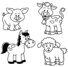 Free Printable Animal Coloring Pages Safari Baby Farm