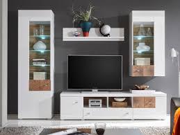 falka wohnwand weiß hirnholz wohnen wohnzimmerschränke