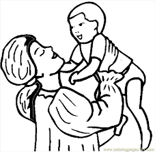 Mother Infant 24 Coloring Page