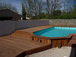 habillage bois d une piscine semi enterrée pose parquet var sppr