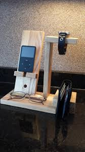 Mens Dresser Valet With Charger by Cell Phone Stand Charging Station Wood Project Pinterest