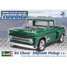 Revell 1:25 Scale '65 Chevy Stepside Pickup 2-in-1 Model Kit ... Gmc The Crittden Automotive Library 69 Ford F100 Shop Truck Scaledworld Amazoncom Revell 57 Gasser 2in1 Plastic Model Kit Toys Model Jet Semi Custom With Bonus Build Youtube Kenworth Heavy Hauler Stop Cars 125 Revell Kevin Vandams Team Profish Silverado Truck Amigo Pack W900 Wrecker 852510 New Aeromax 120 Kits Hobbydb K100 An Amt Box 125th Finescale Modeler Pin By Roman On Italerirevellamt Trucks 124 Pinterest Modelling News Italeris Catalogue New Items Of 62017 1 25 Scale Peterbilt 359 Cventional Tractor Ebay