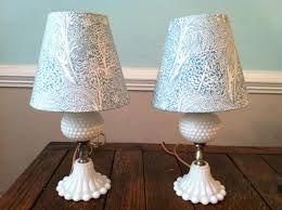 make me pretty – milk glass lamps