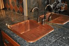 Copper Sinks With Drainboards by Rustic Hand Hammered Copper Sink With Drain Board