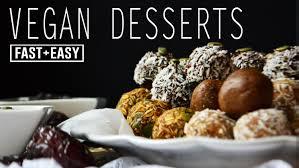 healthy vegan desserts 4 ideas in 4 minutes
