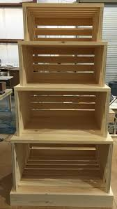 Rustic Wood Stacking Crate Grocery Display Unit Portable Nesting Crates Would Be Awesome As Retail MerchandisingMerchandising