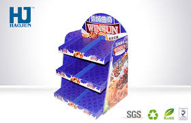 Creative PDQ Floor Corrugated Cardboard Display Boxes For Cookies