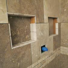 recessed bathroom tile niches indented shelves bathroom