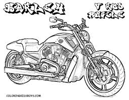 Coloring The Harley Davidson V Rod At YesColoring