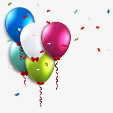 Birthday Balloons Colored Balloons Birthday Vector Free PNG and Vector