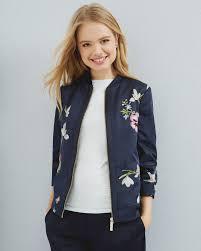 spring meadow bomber jacket dark blue jackets u0026 coats ted