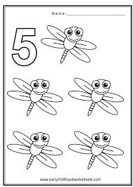 Fun And Cute Coloring Numbers Worksheets With Bugs Theme Color In Number 1 Through The Pictures Too