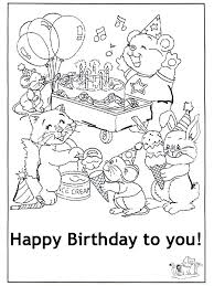 Happy Birthday Cards Coloring Pages