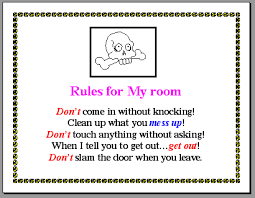On The Example Above I Would Make Three Changes 1 Increase Font Size Of Title 2 Center Each Five Rules And 3 Change Colored Text To