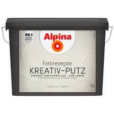 alpina farbrezepte kreativ putz weiß 10 kg
