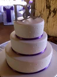 Becs Cake Creations Purple Ribbon Round Three Tier