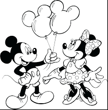 Baby Mickey Mouse Christmas Coloring Pages First Birthday 1st Full Size