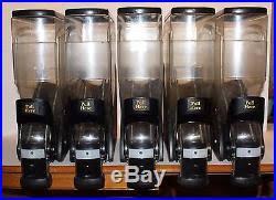 Lot Of 5 Trade Fixtures NEW LEAF Gravity Bin Coffee Bean Bins Dispenser 3 Gal
