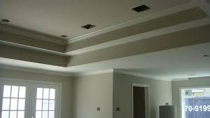 Exposed rafter ceiling zinc desks Key West Cottage