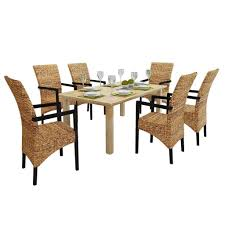 Amazon.com - 6 Pieces Rattan Wicker Abaca Dining Chairs ... Gorgeous Whitewashed Mango Wood Ding Table Wooden Top Nature Hand Crafted Design Set With Woven Rope Chairs Solid Oak Finished Carved Electro Plated Silver Nickle On Demand Allow Minimum 812 Weeks For Delivery Amazoncom Skb Family 2 Pcs Rattan Brown Drift Teal Enchanting Room Sam Chair Walnut East At Main Dakota Small 4ft 120cm Verty Indian Mango Wood Cube Ding Table Chairs In Ts8 Newham Agreeable And 4 Surprising Counter Tables Round Eaging Dark