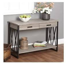 Image Is Loading NEW Grey Rustic Reclaimed Wood Sofa Table Console