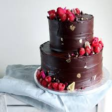 Love Rosies 2 Tier Cakes With Chocolate Ganache Berries Edible Rose Petals Strands