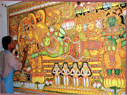 Famous Kerala Mural Artists by The Dancing Painter An Interview With Suresh K Nair Cafe