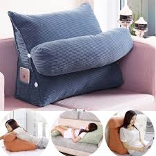 Adjustable Back Wedge Cushion Pillow Sofa Bed Office Chair Rest