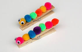Diy Caterpilar Clothespin Crafts For Kids Easy To Make Homemade Project