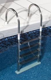 Above Ground Pool Ladder Deck Attachment by Amazon Com Blue Wave Ne1145 Premium Stainless Steel In Pool