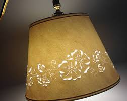 Punched Tin Lamp Shades Canada by Cream Lampshade Etsy