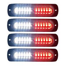 100 Truck Strobe Lights Amazoncom 4pcs Ultra Slim 12LED Surface Mount Grille Flashing