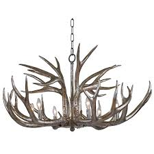 Destinations By Regina Andrew Lamps by Regina Andrew Design Antler Chandelier Ambered Silver Leaf 16 1064