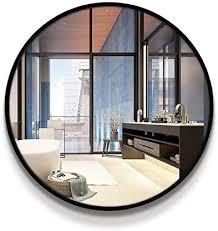 wynzyyx schwarz runder spiegel bad eingang dekorativer