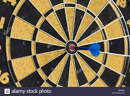 Dart Board Hitting Target Aim Goal Achievement Blue Sting In