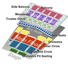detroit opera house seating map