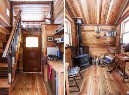 Rustic Tiny House Interior I Like The Woodstove Placement PIN IT