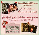 Christmas Cubicle Decorating Contest Flyer by Christmas Decorating Contest Information Database