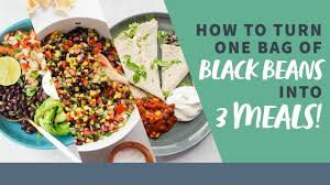How To Turn One Bag Of Black Beans Into THREE Meals