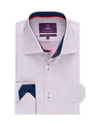 men u0027s curtis white u0026 navy dobby weave slim fit shirt u2013 one button