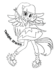 My Little Pony Equestria Girl Coloring Pages Girls