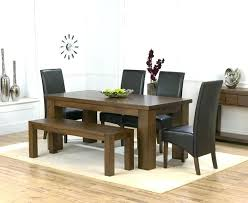 Dinner Table Bench Dining Seat Room Set With Design Height Extending Black Distressed Tab And