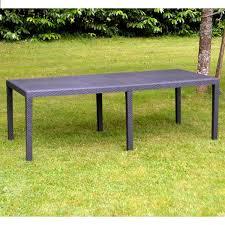 tables de jardin en resine table de jardin 2 20 m anthracite en résine tressée