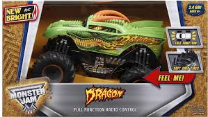Remote Control Monster Jam Dragon Truck Kids Play Toy RC Off Road ...