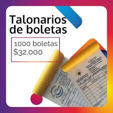 Talonarios De Boletas De Ventas Y De Honorarios