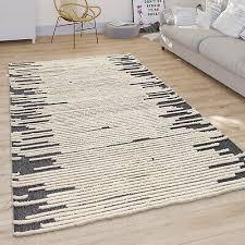 wohnzimmer teppich modernes skandi rauten design kurzflor