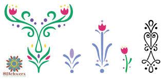 Anna Dress motif templates