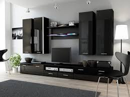 wohnwand iii hochglanz wohnzimmer tv wand farbe schwarz