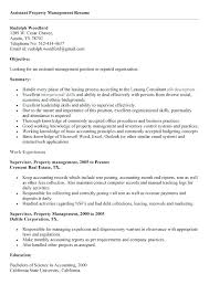 Resume Examples For Building Manager And Assistant Property To Make