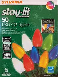 Sylvania Stay Lit Platinum LED Indoor Outdoor Christmas String